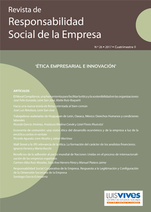 REVISTA DE RESPONSABILIDAD SOCIAL DE LA EMPRESA. Nº 26-2017 II CUATRIMESTRE