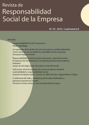 REVISTA DE RESPONSABILIDAD SOCIAL DE LA EMPRESA. Nº 23-2016 II CUATRIMESTRE